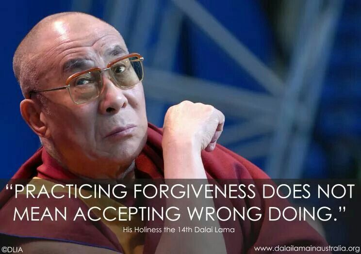 Forgiveness Vs Accepting Wrong Doing Quote Think