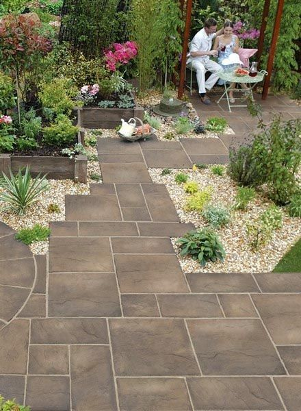 Image Result For Large Patio Pavers Garden Paving Large