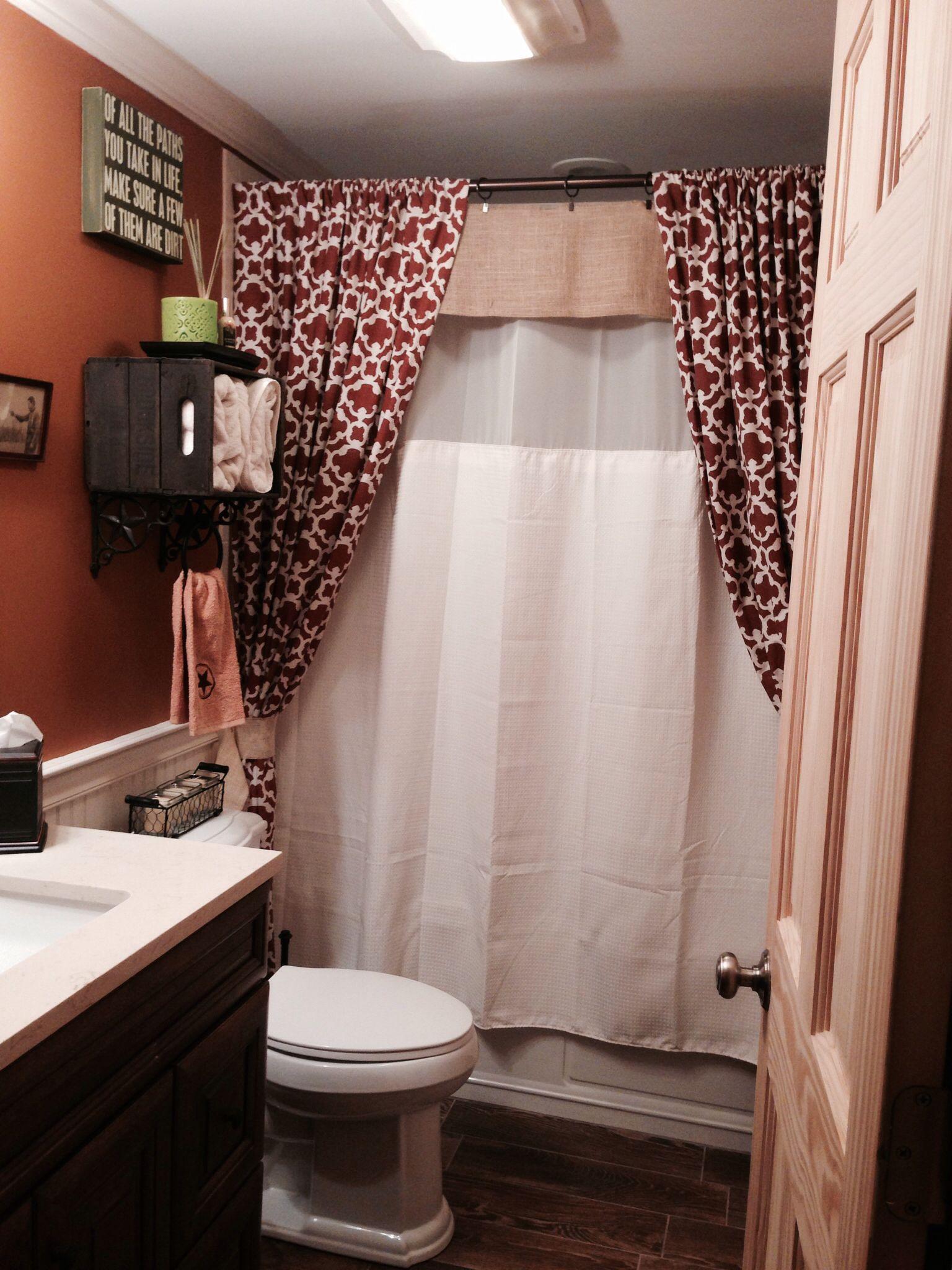 Texas themed bathroom | Printed shower curtain, Basic ...