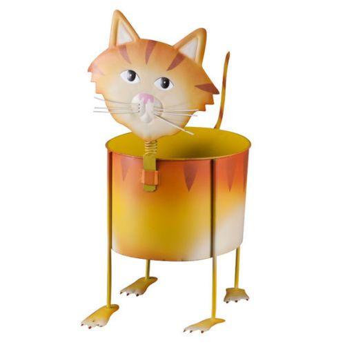 CAT-kitten-metal-sculpture-Flower-Pot-holder-Garden-plant-stand-Planter-statue