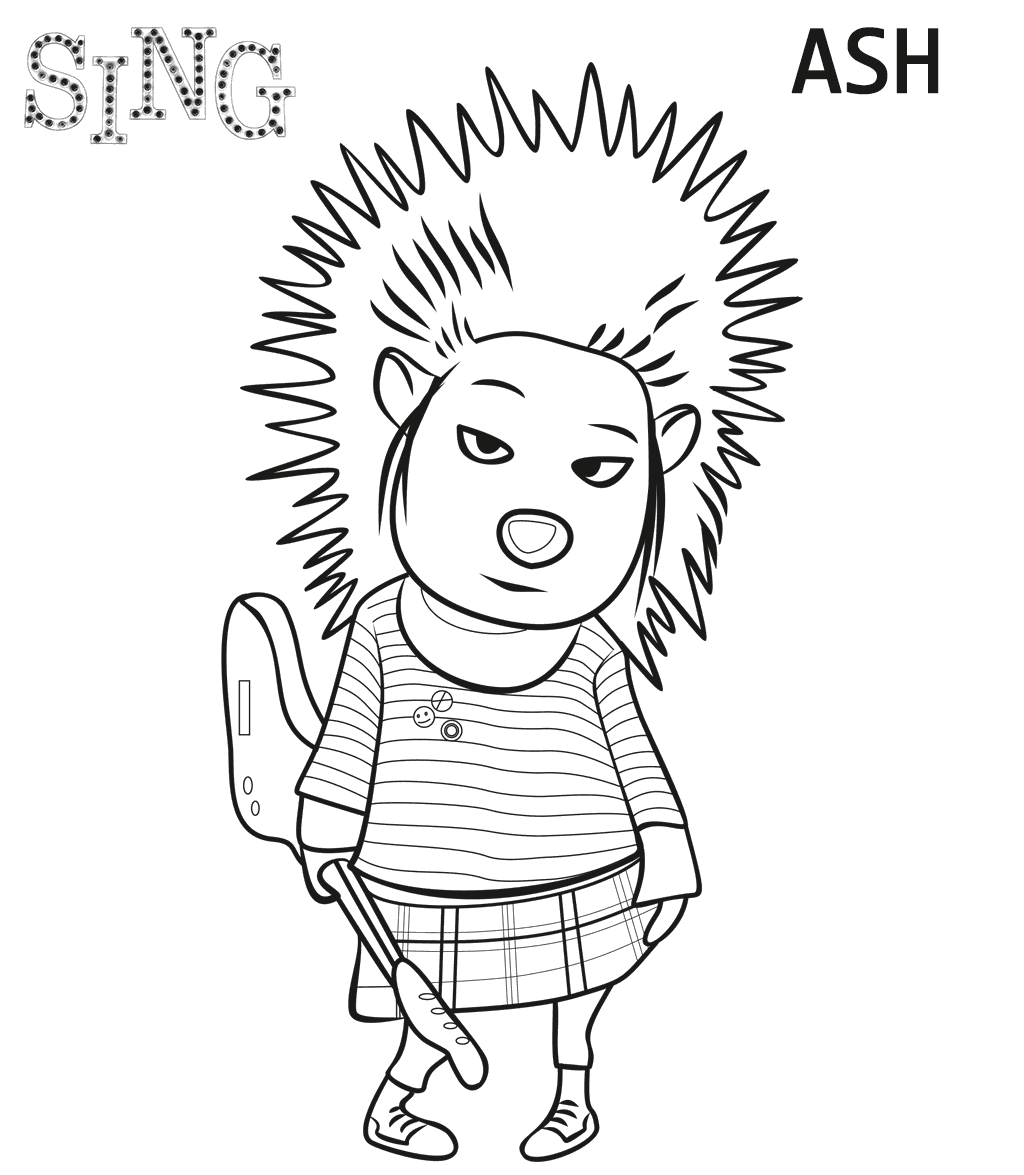 Movie Coloring Page  Drawings   Pinterest  Sing movie Movie