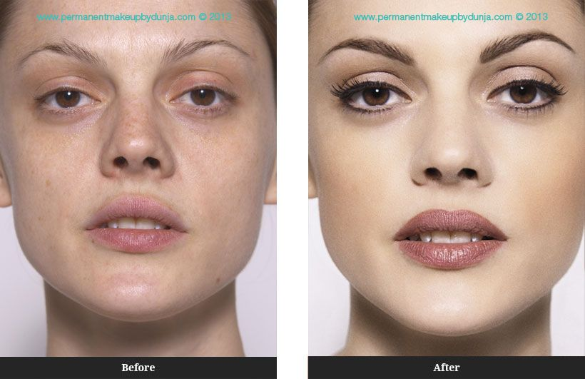 Permanent makeup before and after permanent makeup by for Face tattoo makeup