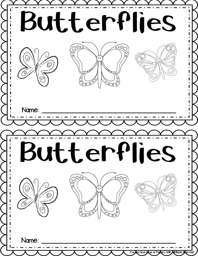 Butterfly Student Booklet Freebie: Read and write about