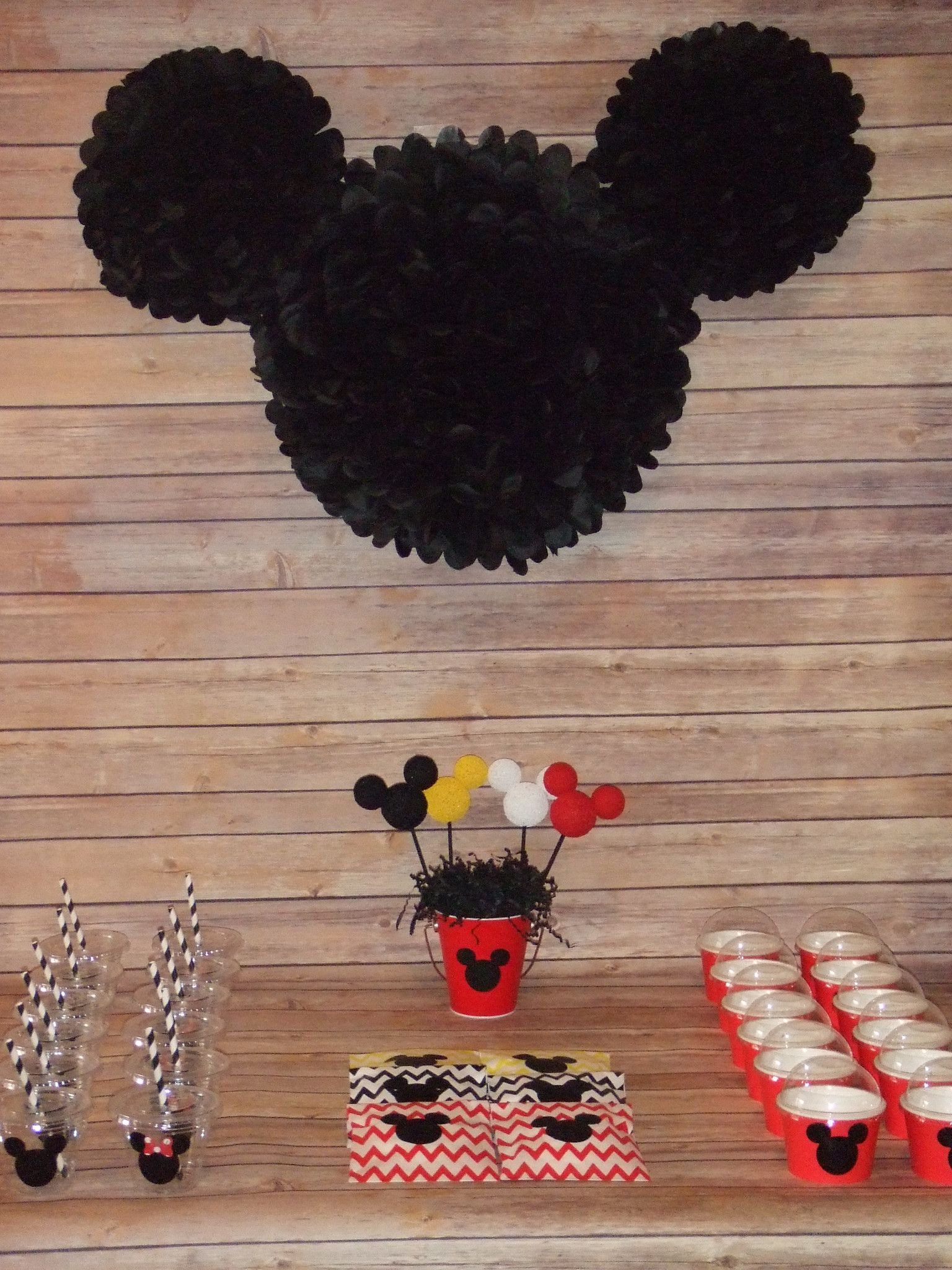 Mickey mouse birthday party wall decoration pink n party mickey mouse birthday party wall decoration amipublicfo Image collections