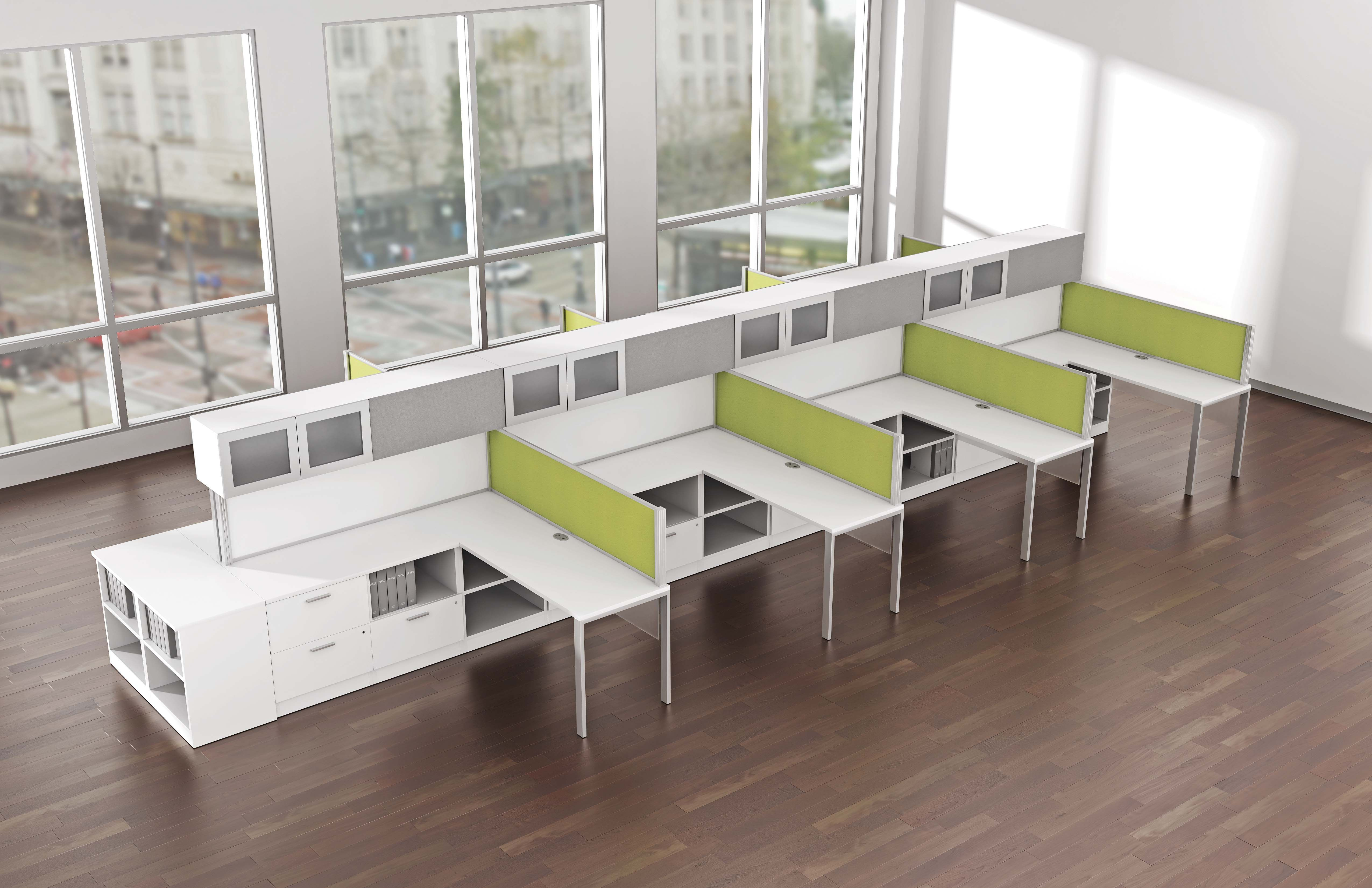 Free standing open plan workstations and benching systems for Open design furniture