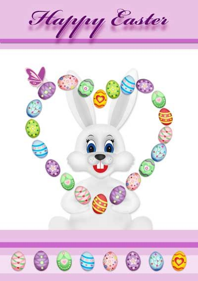 image relating to Easter Cards Printable named Cost-free Printable Easter Playing cards -