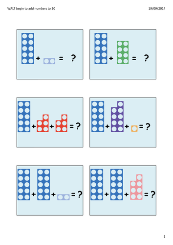 PowerPoint to model how to use Numicon to add and to record number ...