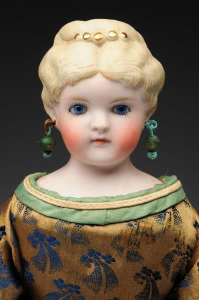 """Lot # : 52 - 11"""" Glass Eyed Parian Doll."""