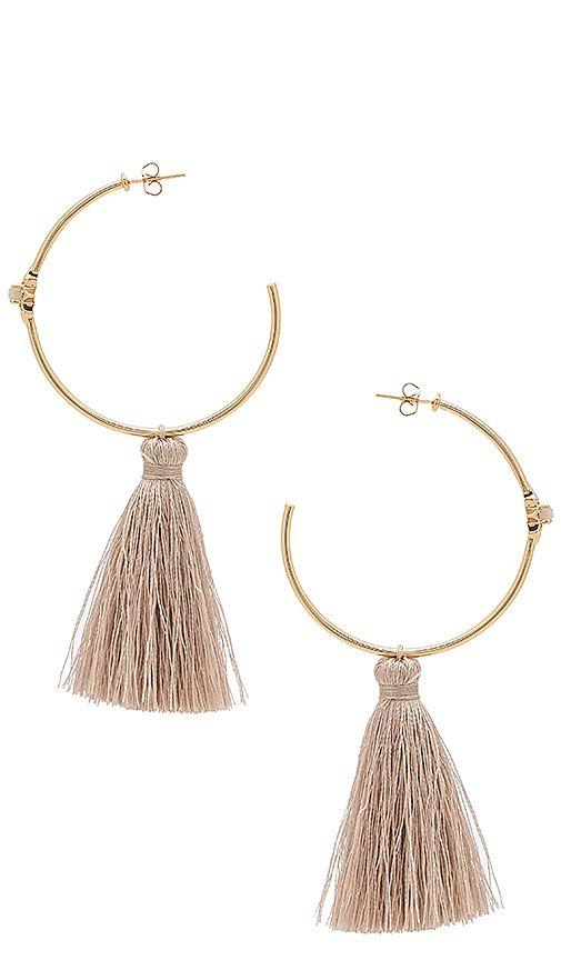 Melanie Auld x REVOLVE Starburst Hoop Earrings in Metallic Gold 6iqacW