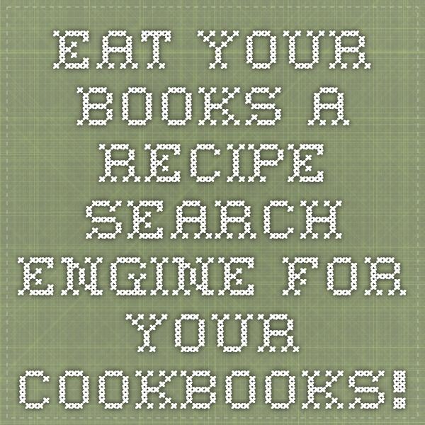Eat your books a recipe search engine for your cookbooks eat your books a recipe search engine for your cookbooks forumfinder Gallery