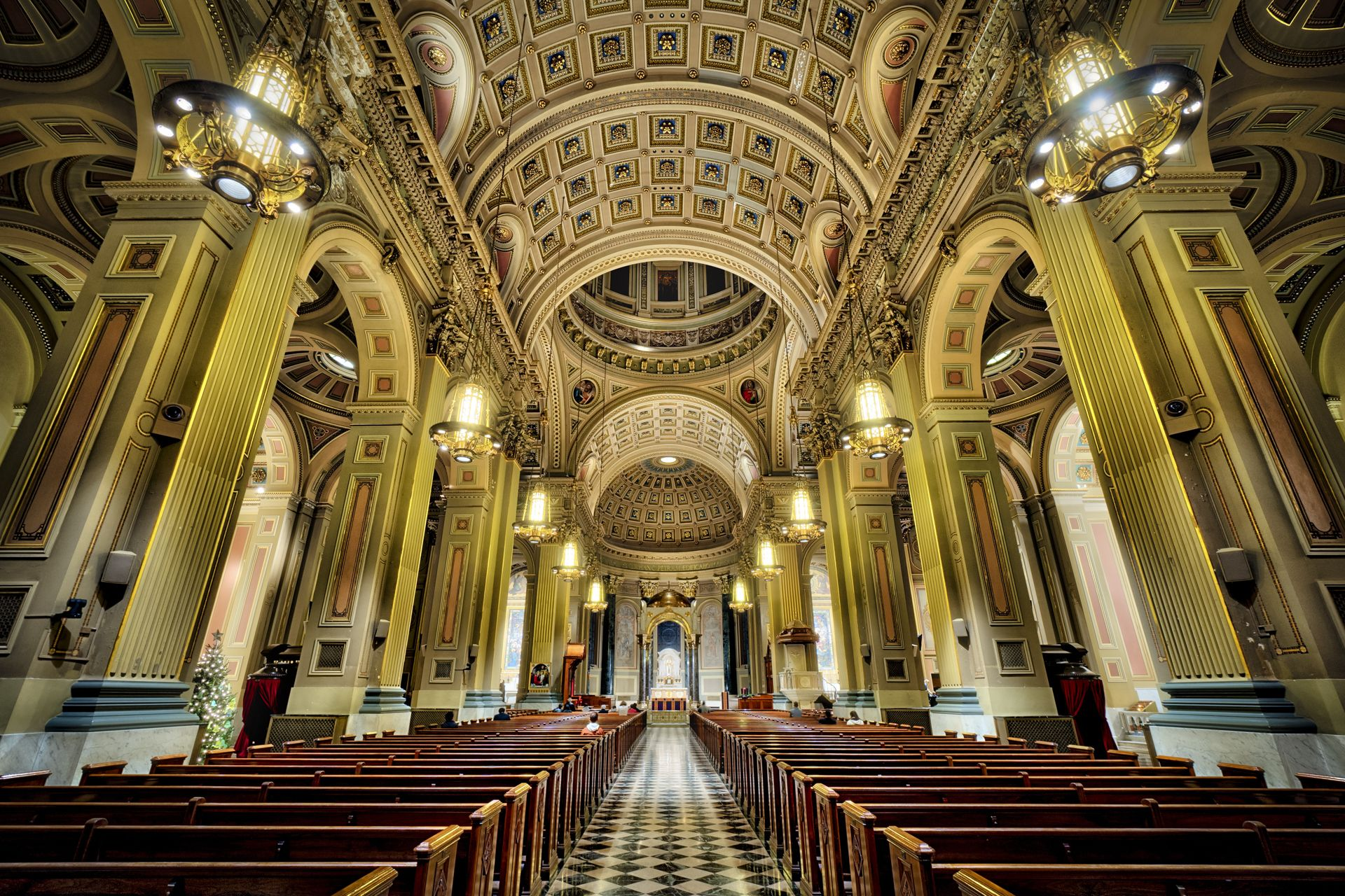 Inside the Cathedral Basilica of Saints Peter and Paul on