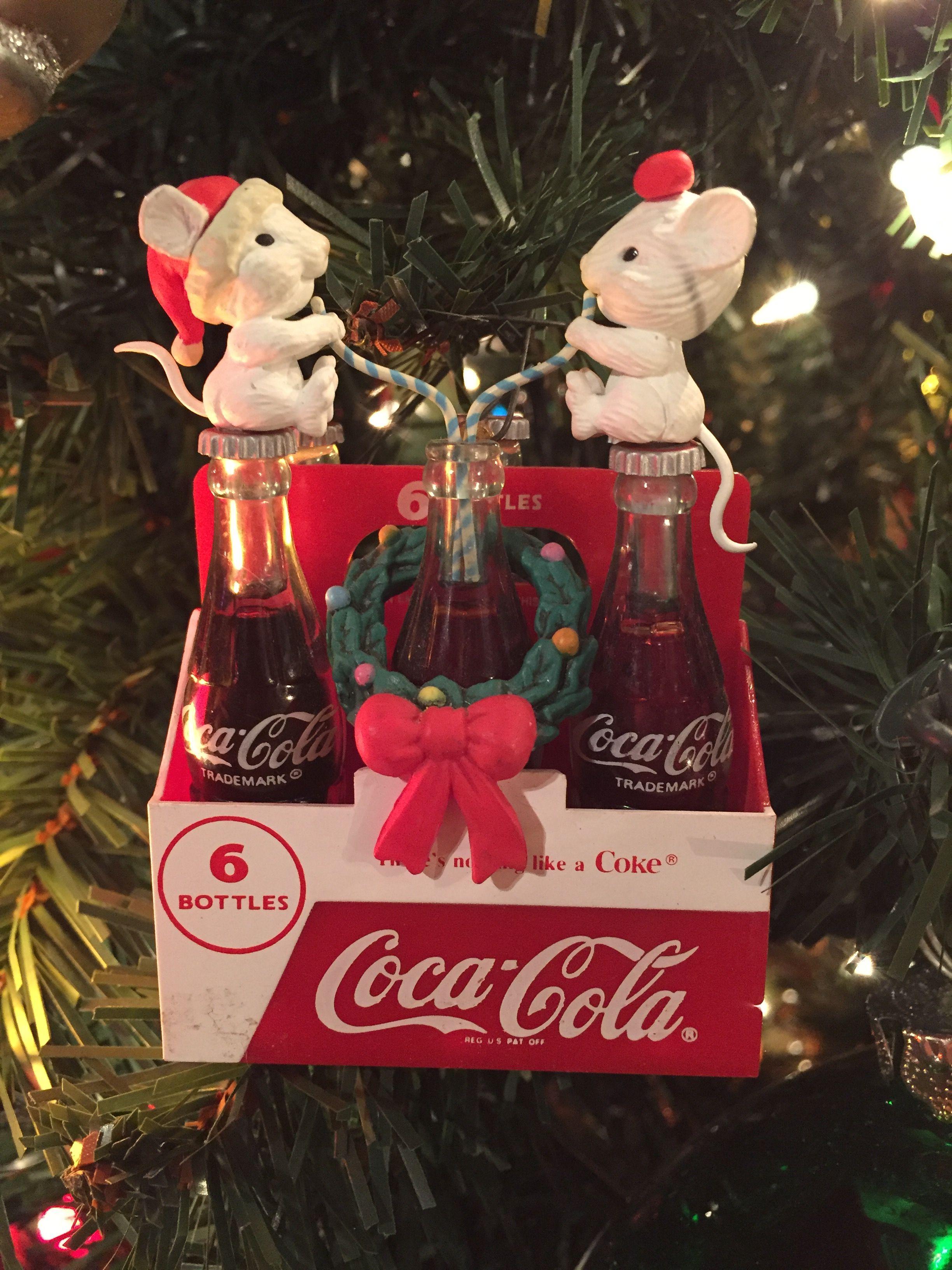 enesco coca cola christmas ornament