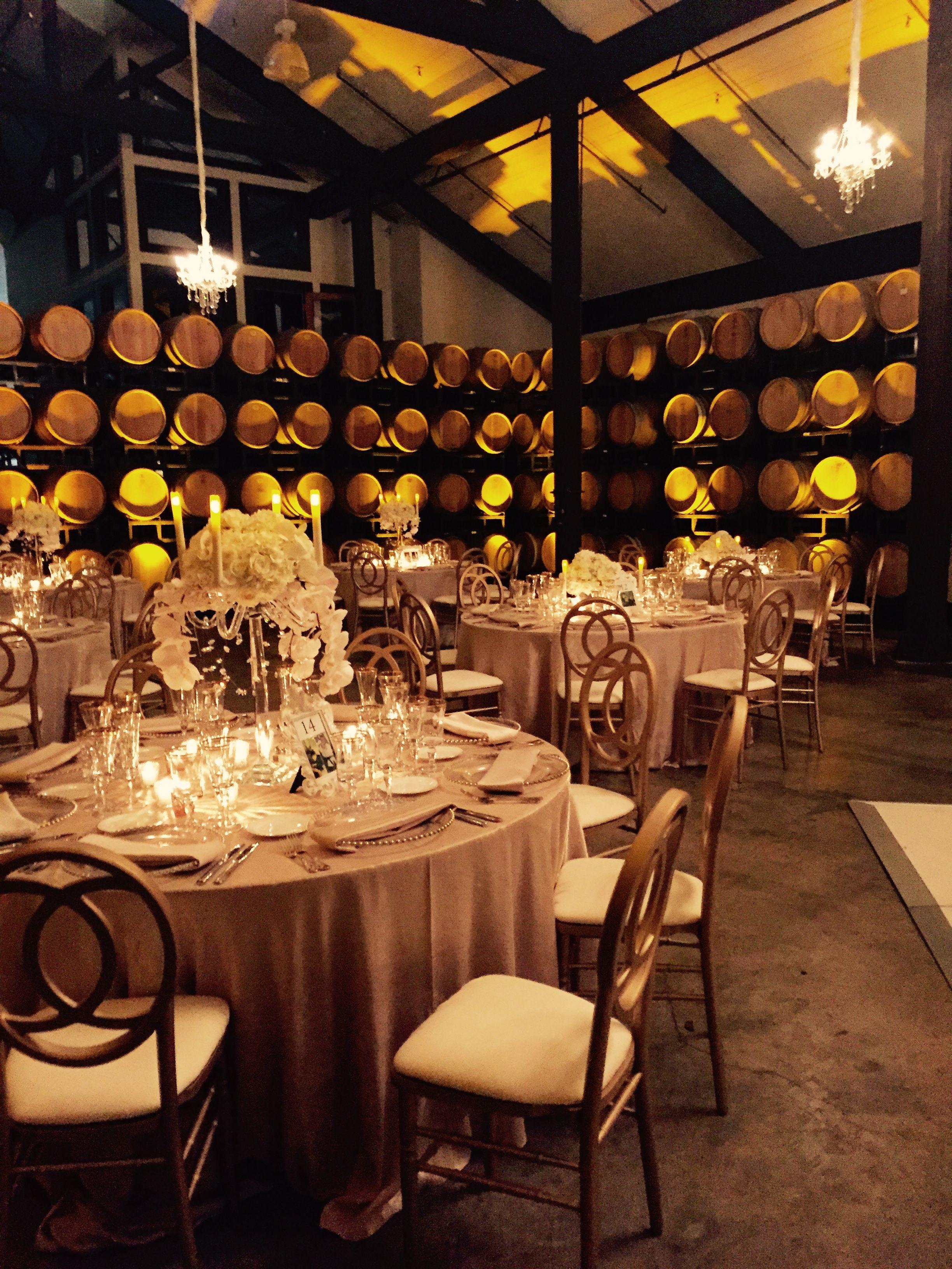 Barrel Room Beautiful! Gold & Glitter wedding reception at ...