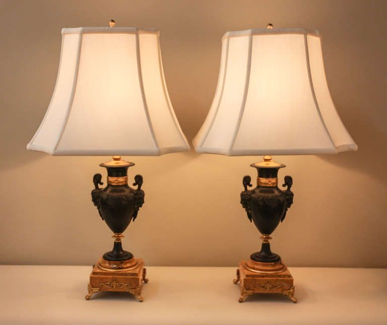 Pair Of Elegant 1930s Table Lamps Depicting Bacchante A Priestess Of Bacchus The Ancient Greek God Of Wine Is Crowned With Wre Artisan Lamps Lamp Table Lamp