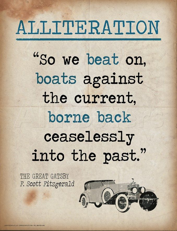 Alliteration Quote From The Great Gatsby By F Scott Fitzgerald
