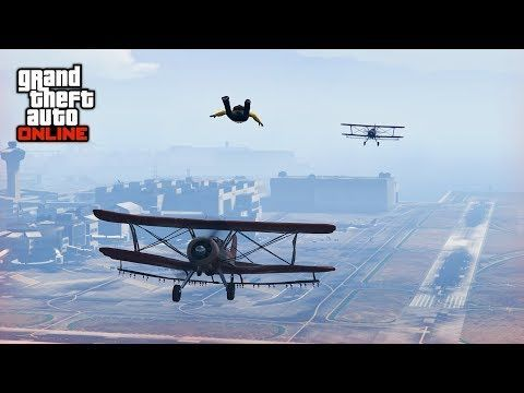Awesome Skydive And Bike Stunts Gta 5 Stunts Fails Gta V