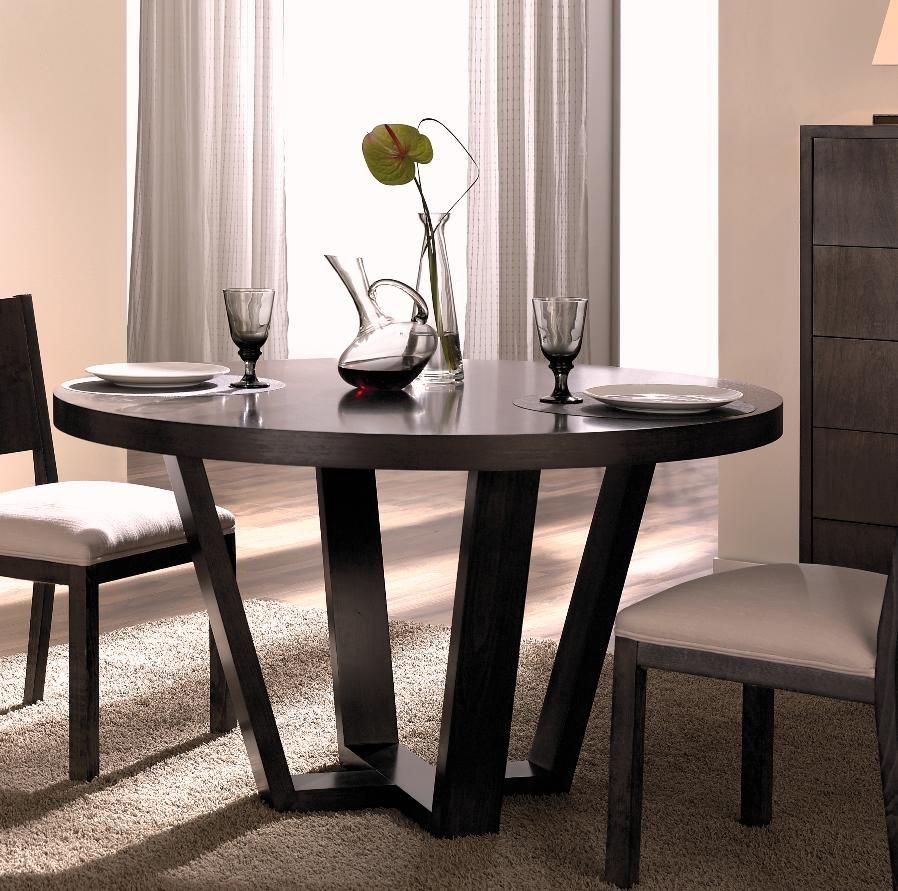 Mesa fija en madera de nogal espa ol se fabrica a medida for Mesas de madera para comedor