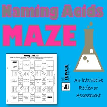 Naming Acids Maze for Review or Assessment Maze, Mole conversion - copy la tabla periodica moderna pdf