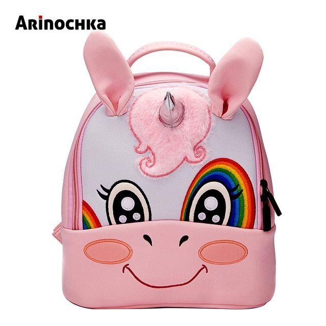 563659ac8868 Unicorn Kindergarten Kid Backpacks Baby Boy Zoo Animal Bookbag Girls Cute  Giraffe Schoolbag Backpack Children Cartoon Mochila Review