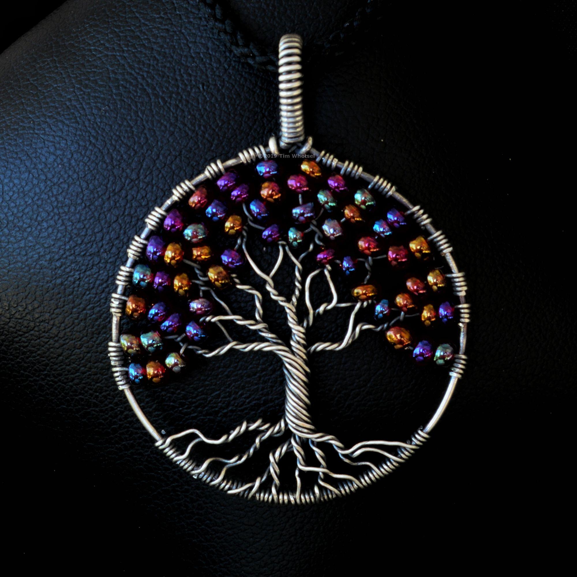 Statement Jewellery Tree Amulet Unakite Tree Of Life Bracelet Wire Wrapped Jewellery