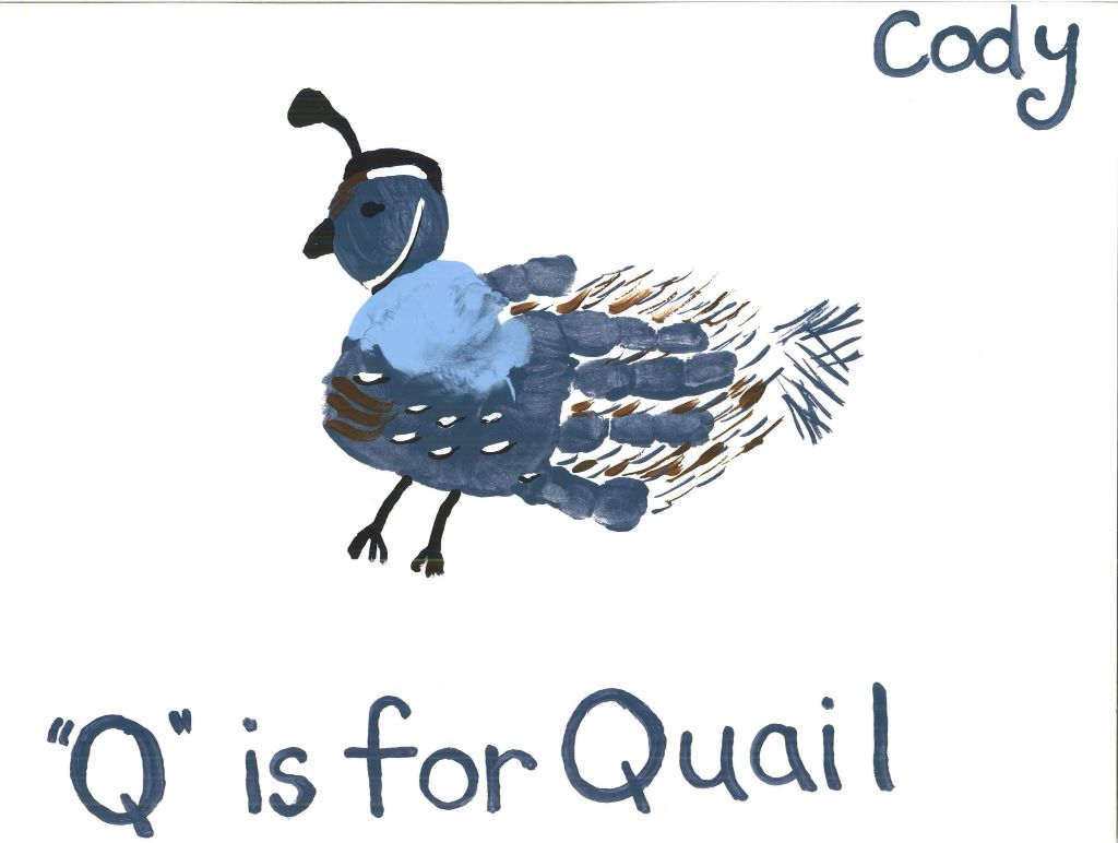 Handprint Quail By Tala Campbell