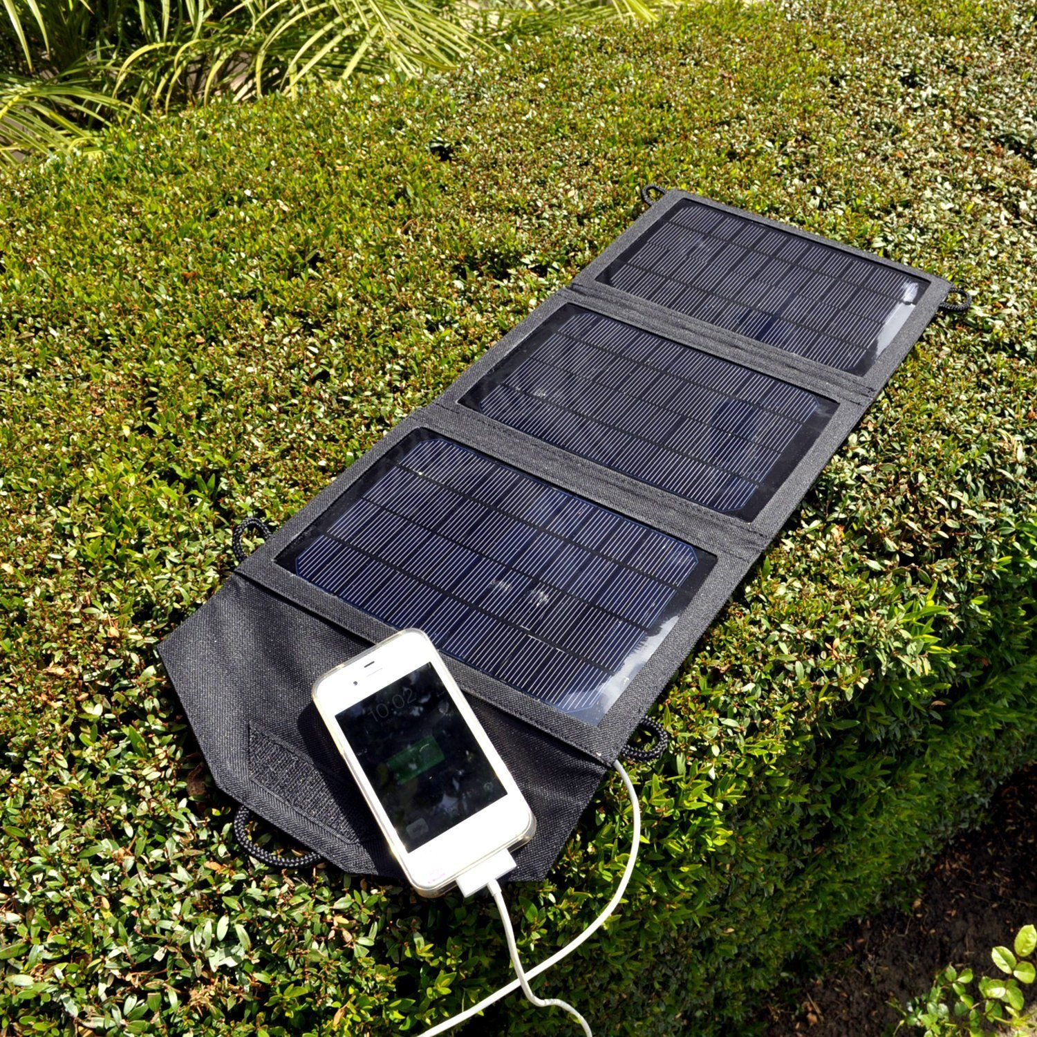 Instapark 10 Watt Solar Panel Portable Solar Charger With Dual Usb Ports For Iphone Ipad All Other Usb Compatible Devices Portable Solar Panels Solar Charger Portable Solar Panel Charger