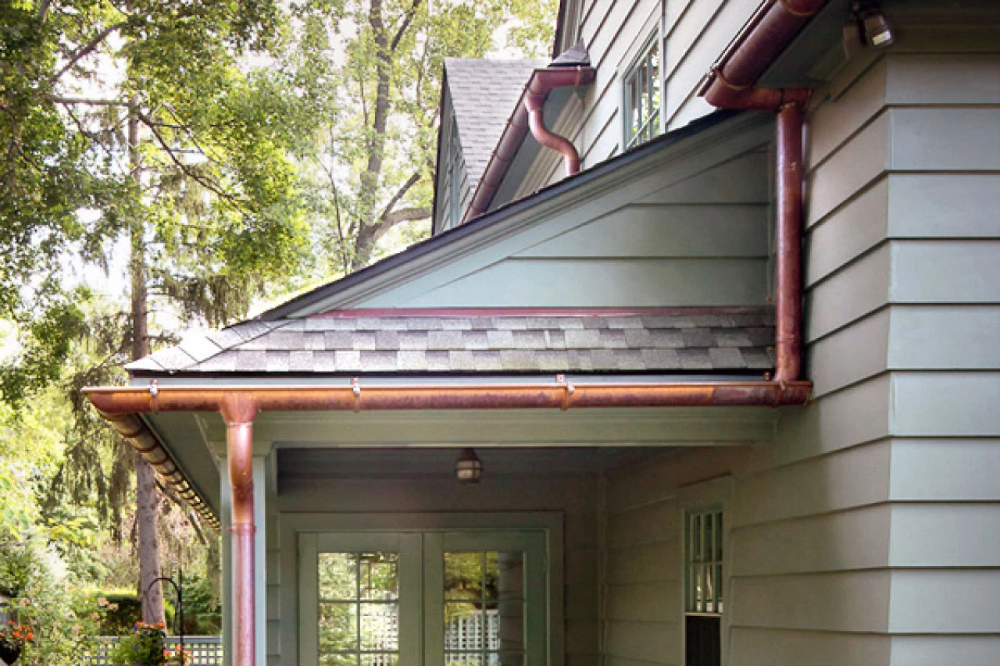 Types Of Gutters And Costs House Gutters Copper Gutters Exterior Paint