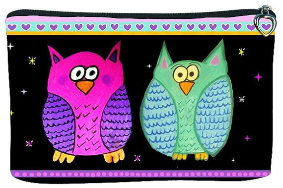 Whimical Owls Cosmetic Bag  On Sale Taken from my by SalvadorKitti, $14.98