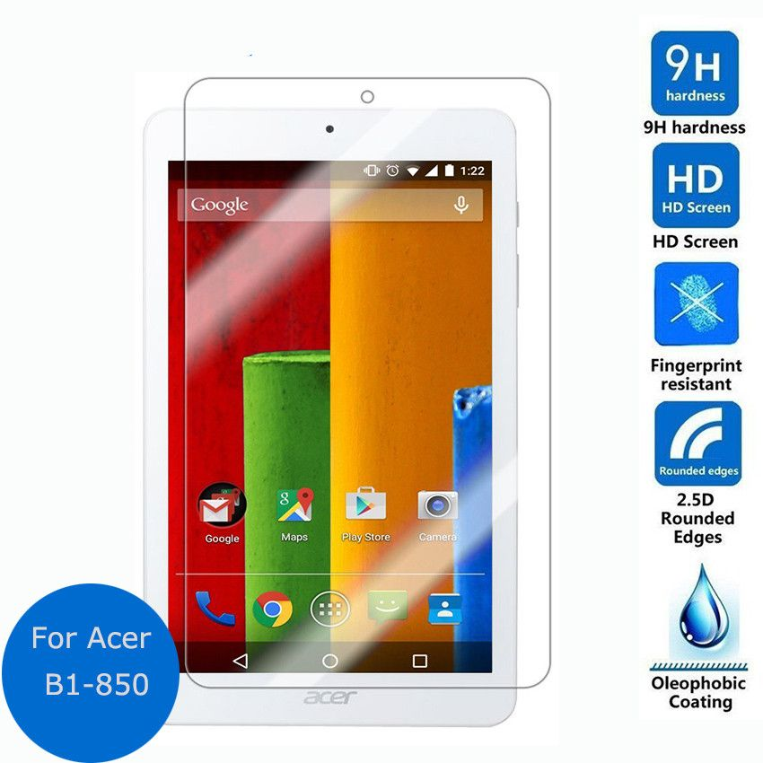 """Tablet Tempered Glass Screen Protector Cover For Acer Iconia One 8 B1-850 8/"""""""