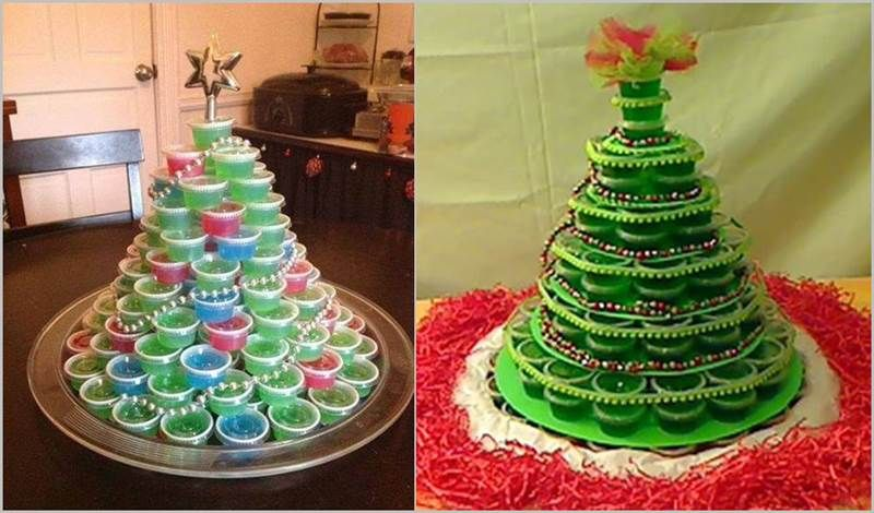 Creative Ideas Diy Jello Shot Christmas Tree Christmas Jello Shots Christmas Tree Food Christmas Tree Jello Shots