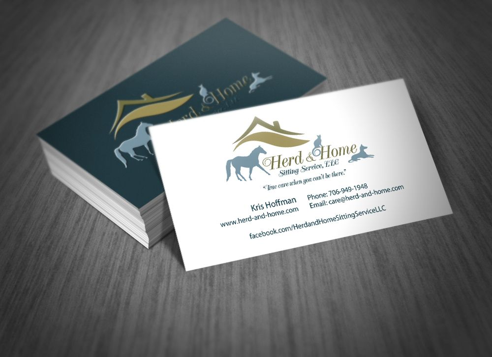 Business Cards for Herd & Home Pet Care. #pets #business #cards ...