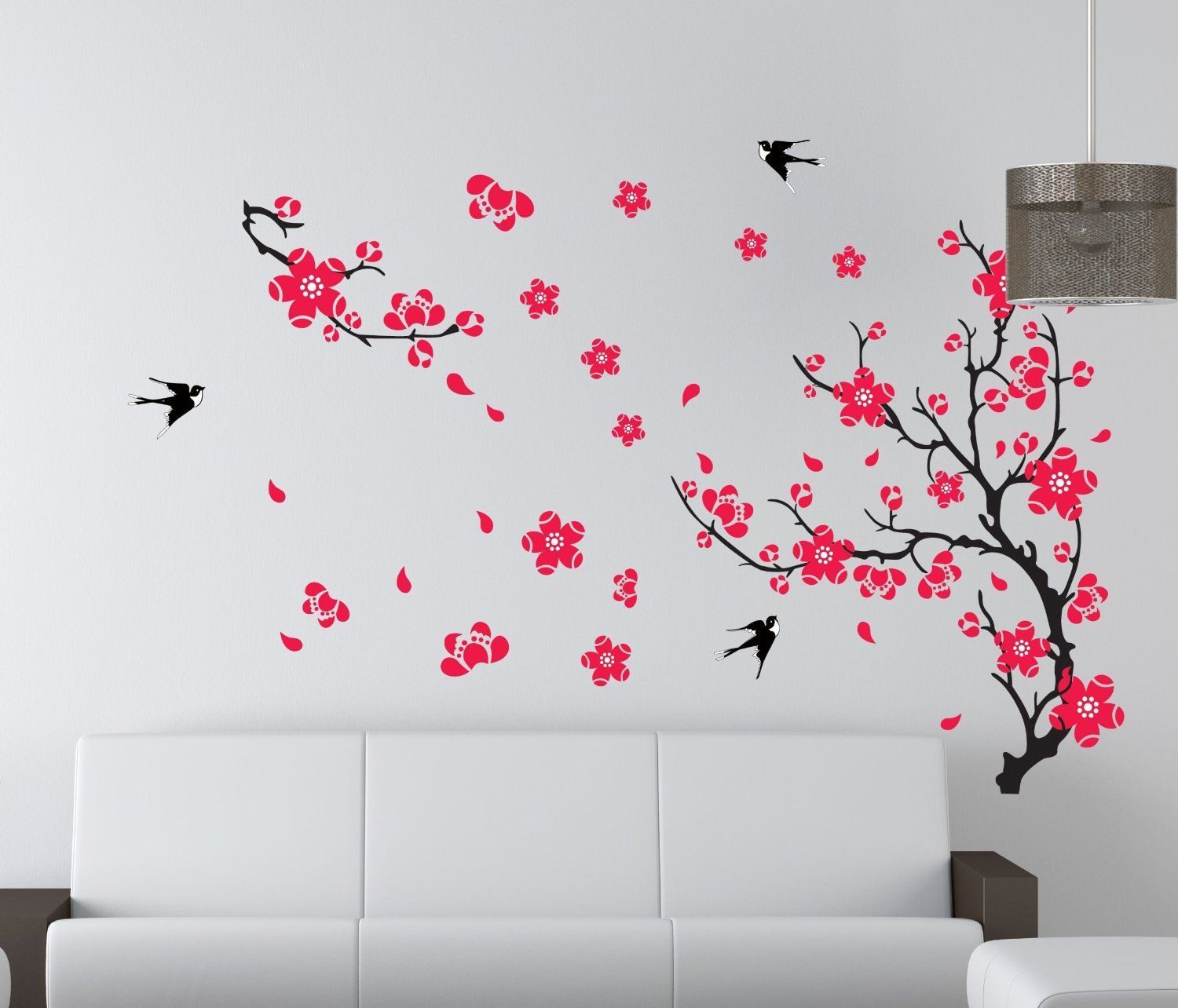 Delicieux US Room Peach Blossom Flower Butterfly Wall Sticker Vinyl Art Decals Decor  Mural