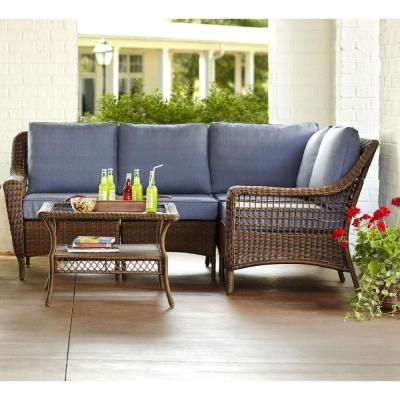 Hampton Bay Spring Haven Brown -Piece All-Weather Wicker Patio