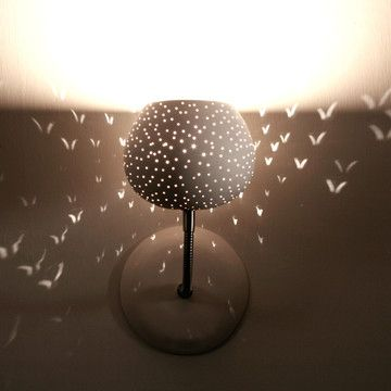 Any little girls dream !  Claylight Dot Pattern Sconce now featured on Fab.