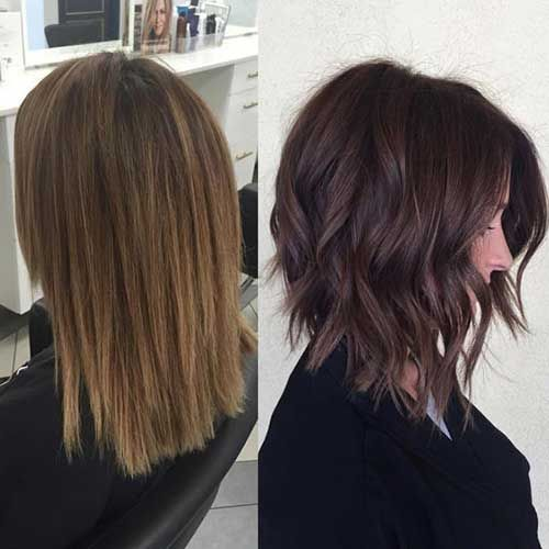 Image Result For Long Bob A Line Brunette Braids Cuts Dos
