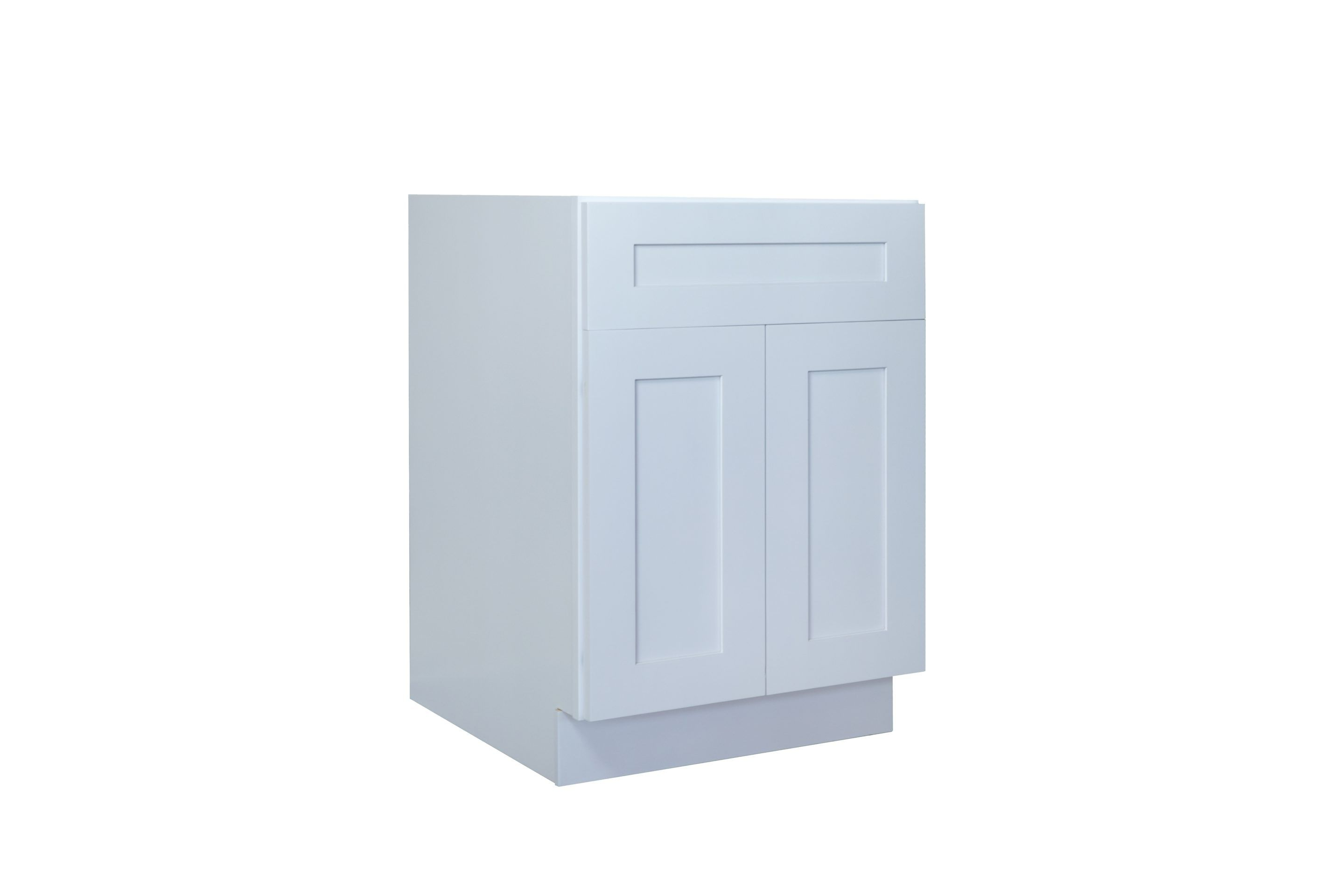 White Shaker 24 30 Base Cabinet Double Door Single Drawer Nelson Cabinetry In 2020 Cabinetry Cabinet Base Cabinets