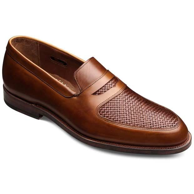 Mens Real Leather Tan Brown 2 Tone Loafer Smart Casual Italian Style Retro Shoes