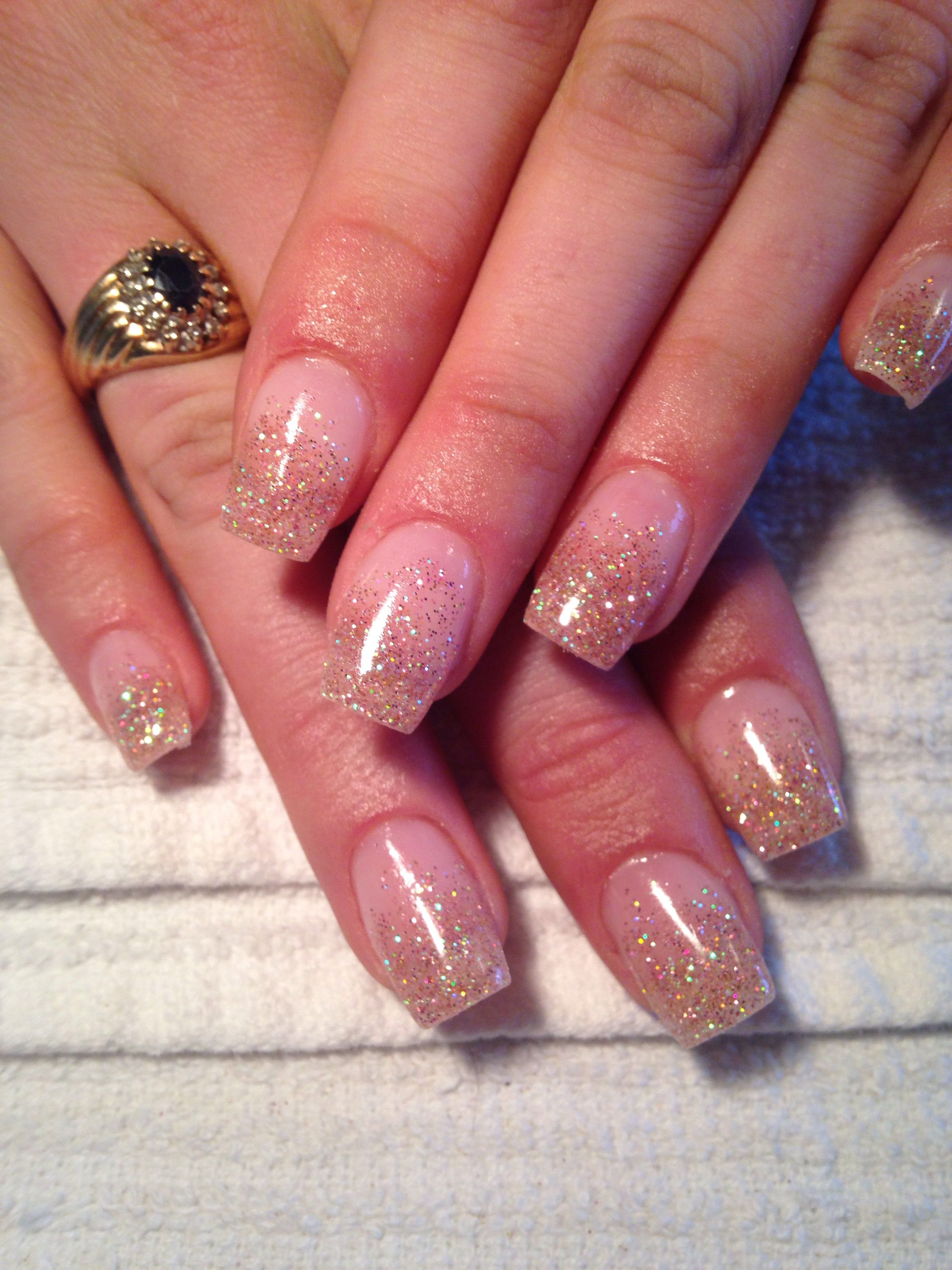 Rose Gold Fade French Gel Nails | My Work | Pinterest