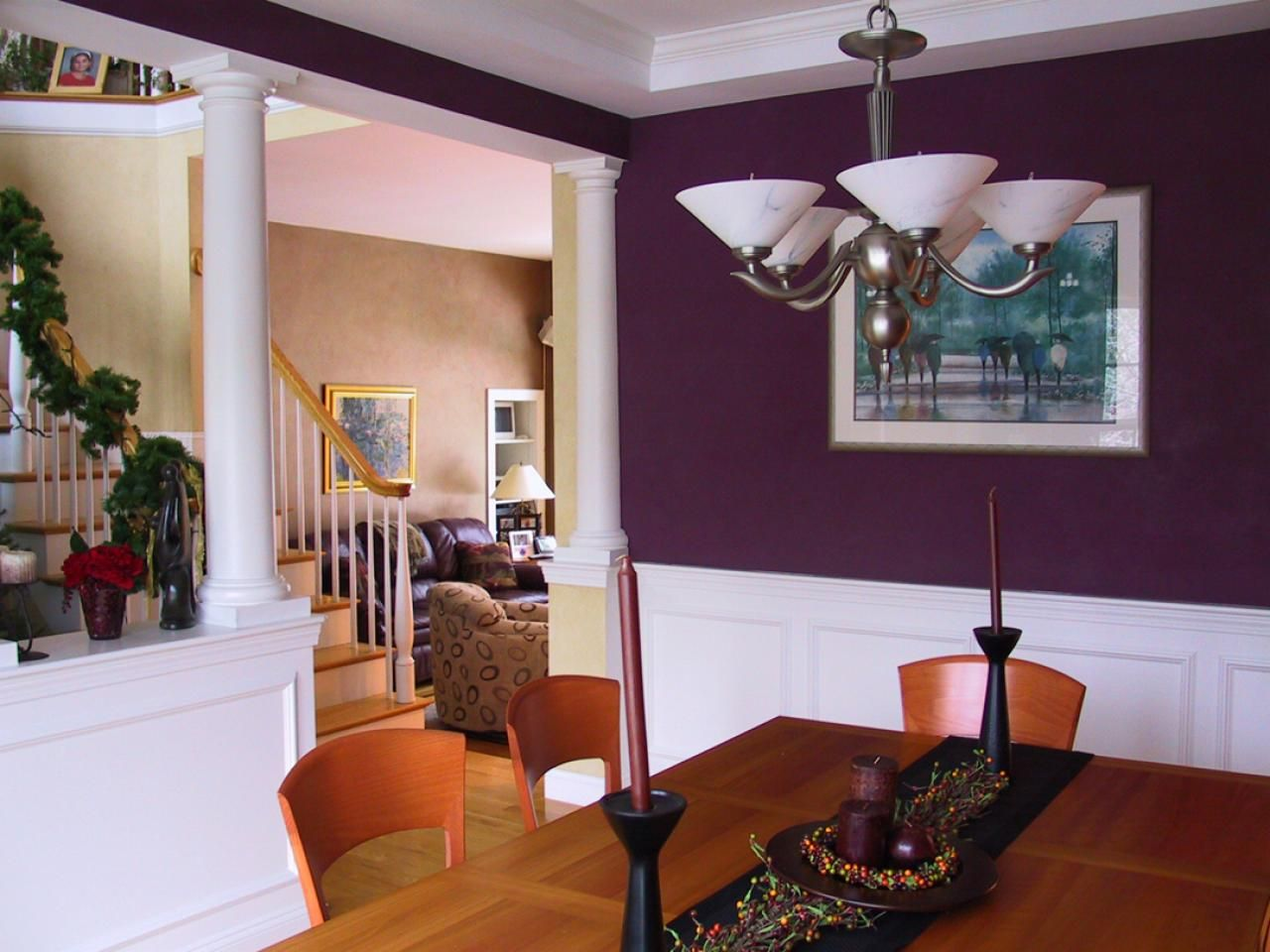 Connecting Rooms With Color | Dining room colors, Dining ...