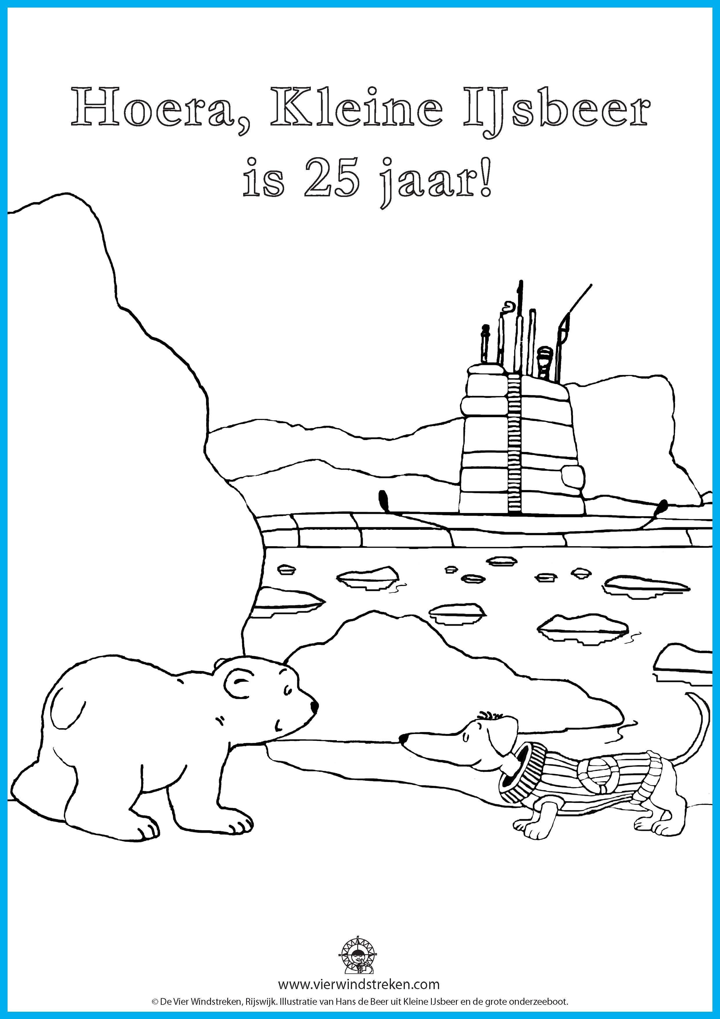 Kleurplaat Kleine Ijsbeer En De Grote Onderzeeboot Lars De Kleine