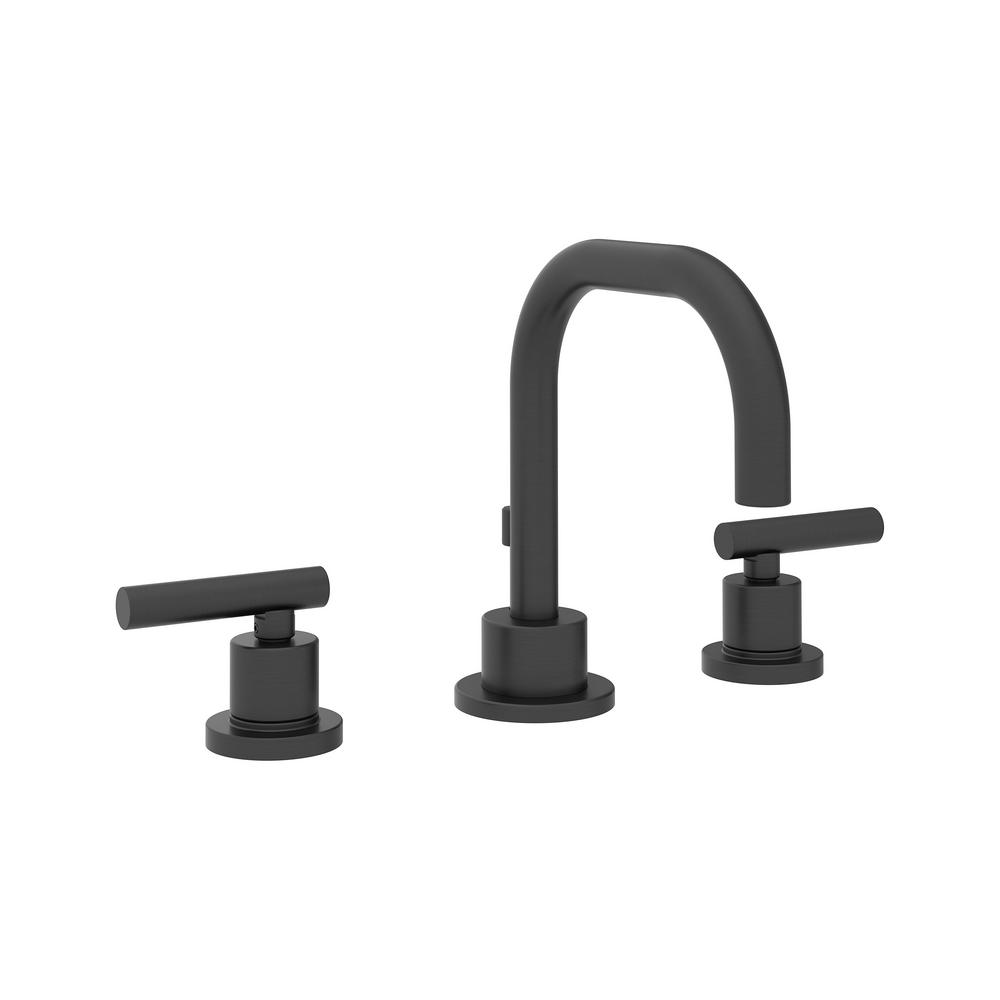 Photo of Symmons Modern 8-inch bathroom mixer with 2 handles and drain in matt black-SLW-3512-MB-1.0 – The Home Depot