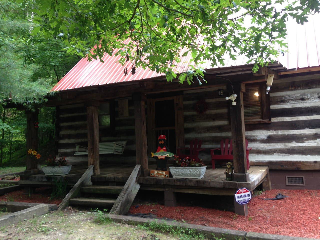 New Red Metal Roof Installed Spring 2014 Ellijay Cabin Rustic