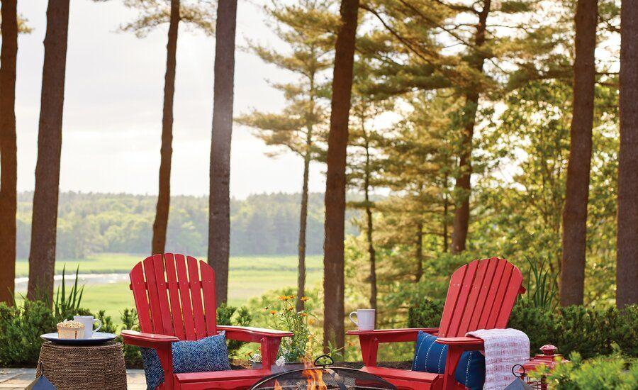 Cuyler Solid Wood Folding Adirondack Chair Wood burning