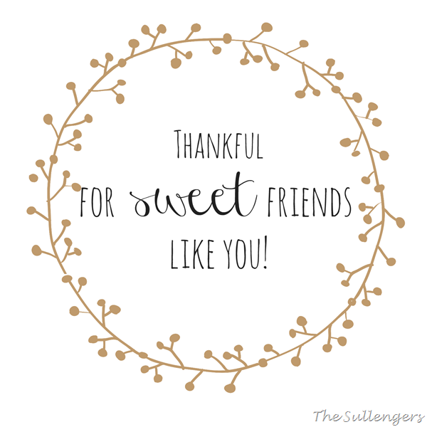 Quotes For Sweet Friend: Thankful For Sweet Friends Like You!:Sullenger Blog