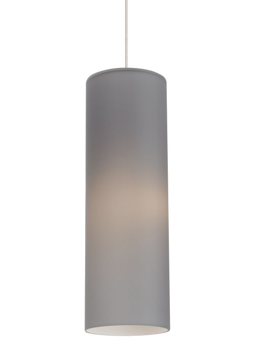 Mati satin nickel one light 6 inch narrow mini pendant with smoke shade lbl lighting