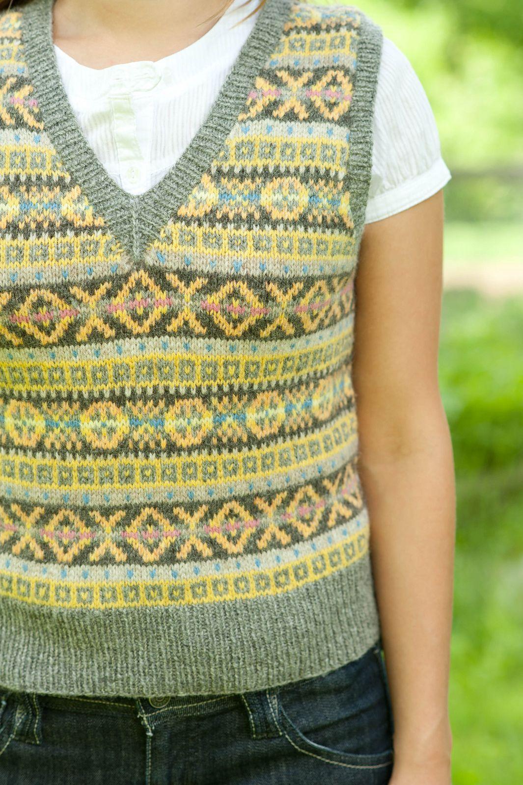 Ravelry: Fair Isle Vest pattern by Mary Jane Mucklestone   Fair Isle ...