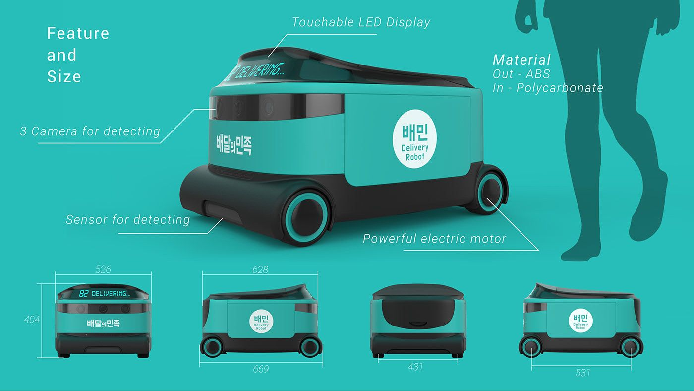 BAEMIN X Delivery Robot on Behance in 2020