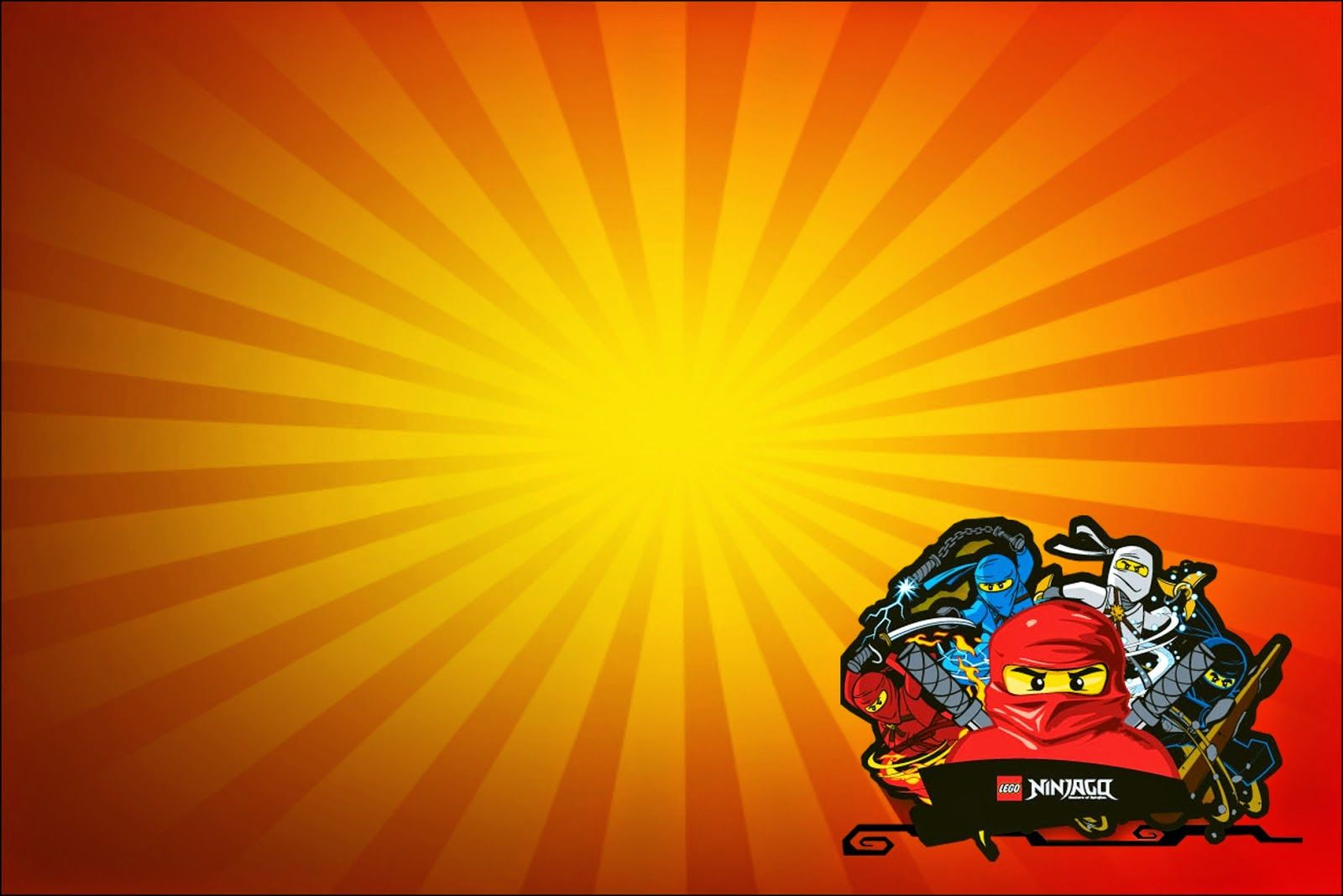 Ninjago Invitaciones Tarjetas Y Marcos Para Imprimir