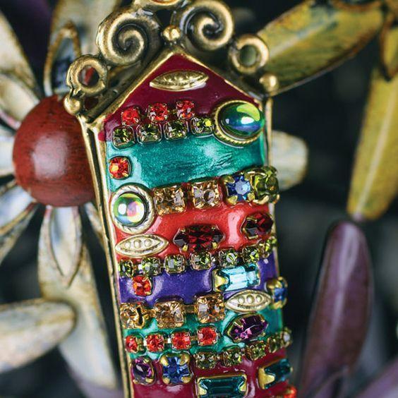 Rainbow crystals Mezuzah. Handmade by Michal Golan.