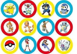 picture regarding Pokemon Cupcake Toppers Printable titled No cost Printable Pokemon Cupcake Toppers Social gathering Strategies and
